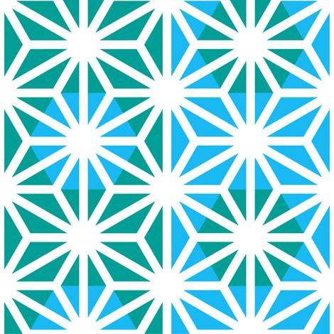 Asanoha (Blue) fabric by nekineko on Spoonflower - custom fabric