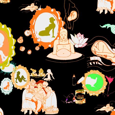 Neon Birth fabric by badpenny on Spoonflower - custom fabric