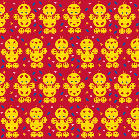 Golden bell boys fabric by squeakyangel on Spoonflower - custom fabric