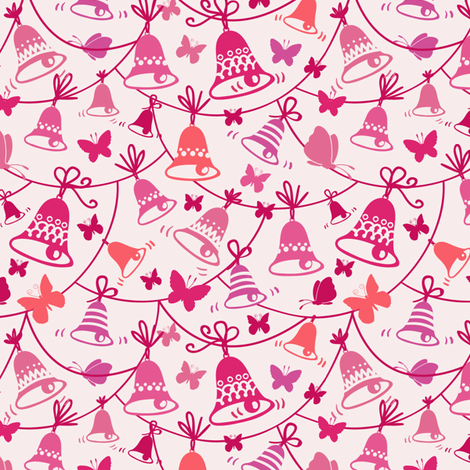 Bells and Butterflies fabric by oksancia on Spoonflower - custom fabric