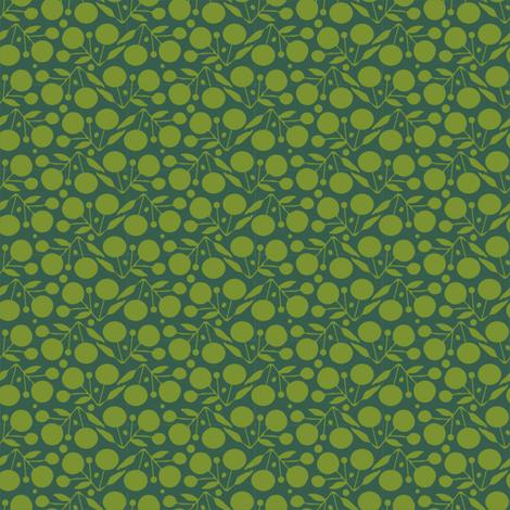 Winterberry Green fabric by spellstone on Spoonflower - custom fabric