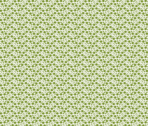 Winterberry Lime fabric by spellstone on Spoonflower - custom fabric