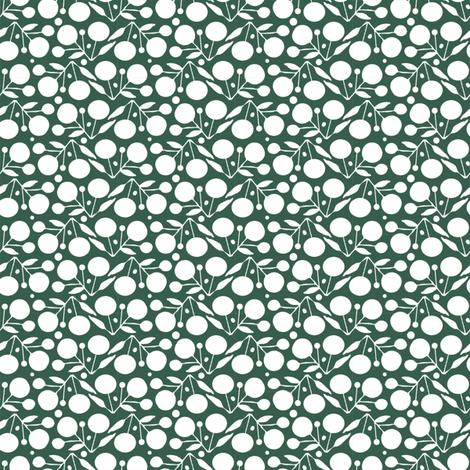 Winterberry Snow fabric by spellstone on Spoonflower - custom fabric