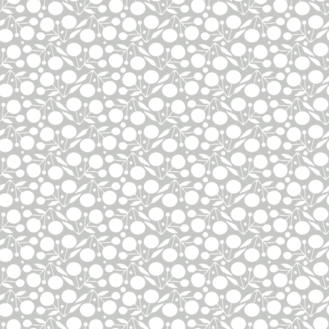 Winterberry Silver fabric by spellstone on Spoonflower - custom fabric
