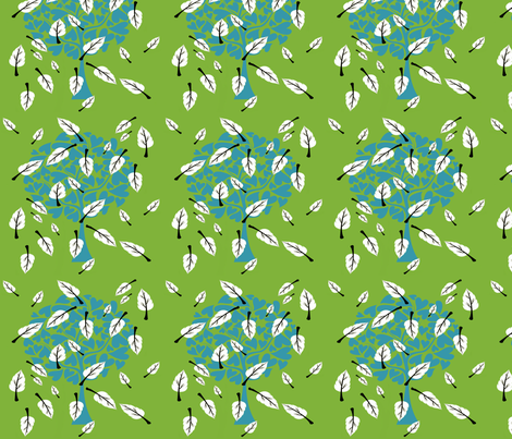 blue,green and evergreen fabric by ambies on Spoonflower - custom fabric