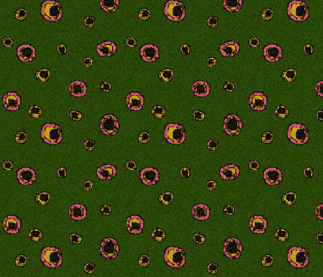 Olive Green Dot-ed fabric by mammajamma on Spoonflower - custom fabric