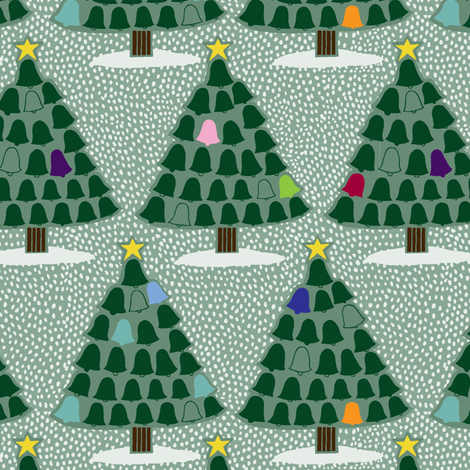 Tree Bells fabric by jeannemcgee on Spoonflower - custom fabric