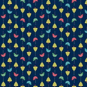 Bells, Birds & Beads (Navy)