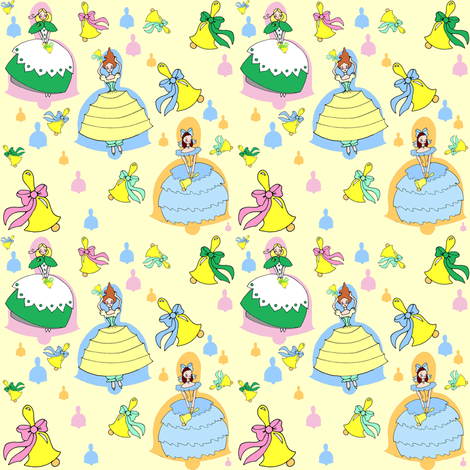 Belle Ringers - Pastels fabric by beesocks on Spoonflower - custom fabric