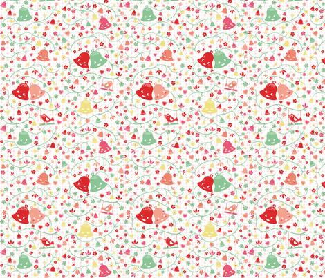 Ring my Bell Pastel fabric by miss_honeybird on Spoonflower - custom fabric
