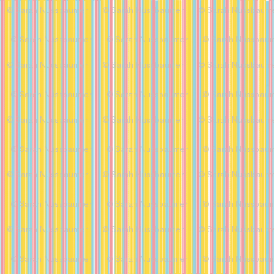 Narrow Vintage Icecream Stripe