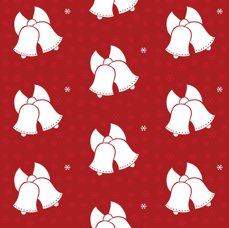 Christmas Bells fabric by jenniferfranklin on Spoonflower - custom fabric