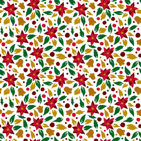 bells for christmas fabric by made_in_shina on Spoonflower - custom fabric
