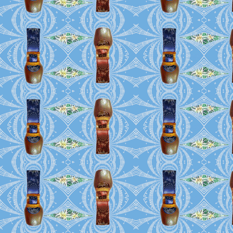 edel-yodel-cowbell-musik fabric by wren_leyland on Spoonflower - custom fabric