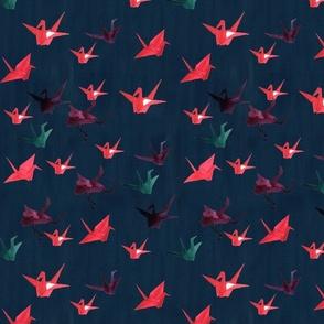 paper cranes print