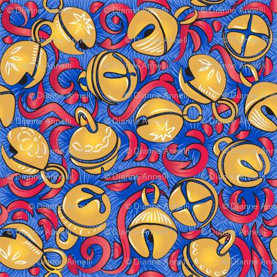 Vintage Sleigh Bells - Blue