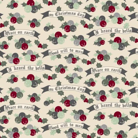 I Heard the Bells fabric by audreymann on Spoonflower - custom fabric