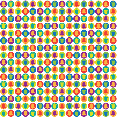 Un-Pastel Bells fabric by jennartdesigns on Spoonflower - custom fabric