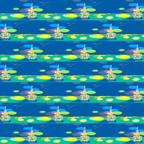 Glowing Tree fabric by robin_rice on Spoonflower - custom fabric
