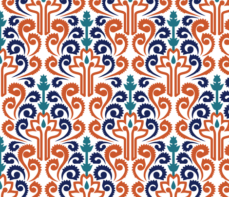 Adobe Damask fabric by ravenous on Spoonflower - custom fabric
