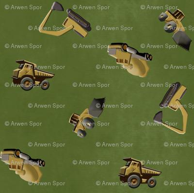 Scattered Trucks - Green