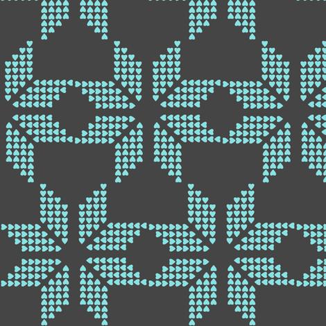 scandinavian snowflake heart fabric by katarina on Spoonflower - custom fabric