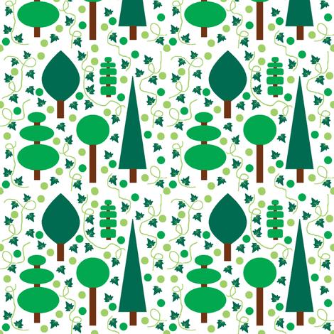Evergreens fabric by squeakyangel on Spoonflower - custom fabric