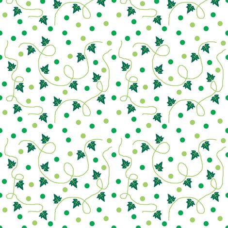 Ivy & spots! fabric by squeakyangel on Spoonflower - custom fabric