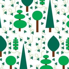 Topiary trees & Ivy