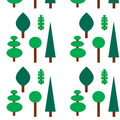 Topiary trees fabric by squeakyangel on Spoonflower - custom fabric