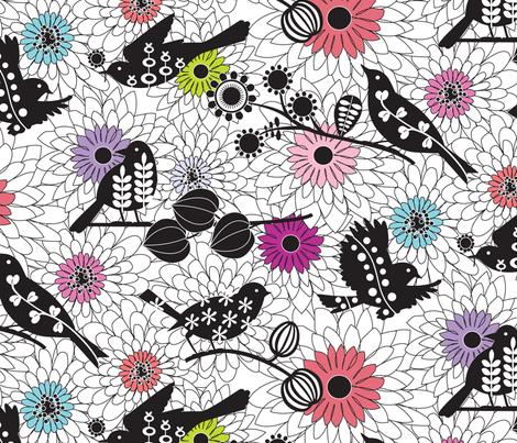 Nest Builders - colour fabric by kayajoy on Spoonflower - custom fabric