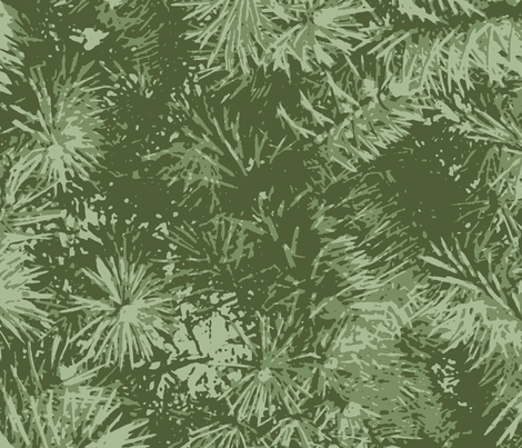Evergreens fabric by patchinista on Spoonflower - custom fabric