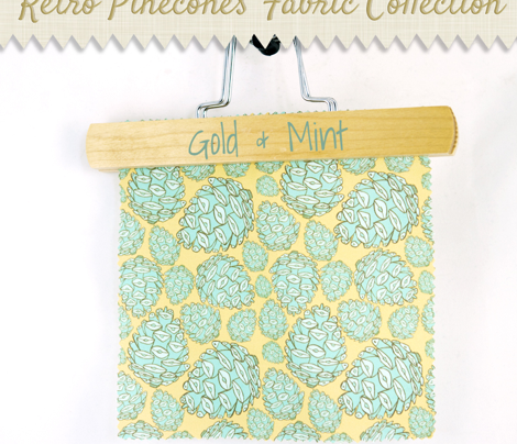 Retro Pinecones {Gold and Mint}