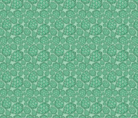 Retro Pinecones {Mint and Seafoam} fabric by joyfulroots on Spoonflower - custom fabric
