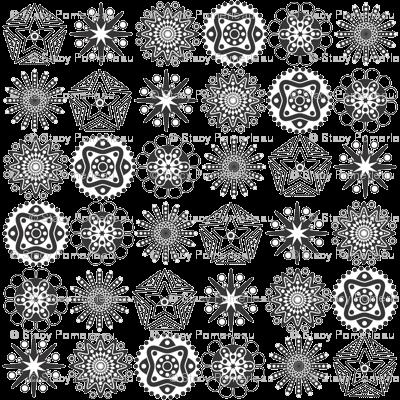 Mini Mandalas Giftwrap Madebymemyselfandi Spoonflower