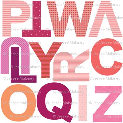 Large Alphabet - Girly - Part 2