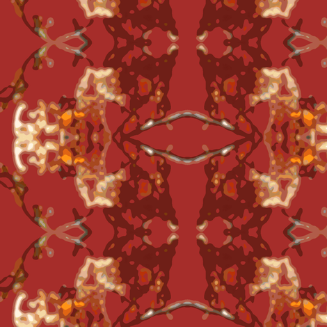 Autumn Leaves Abstract fabric by robin_rice on Spoonflower - custom fabric