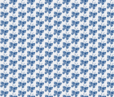 Blue_Butterfly fabric by bad_penny on Spoonflower - custom fabric