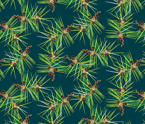 Perennial Needles (Full Colour) fabric by ravenous on Spoonflower - custom fabric