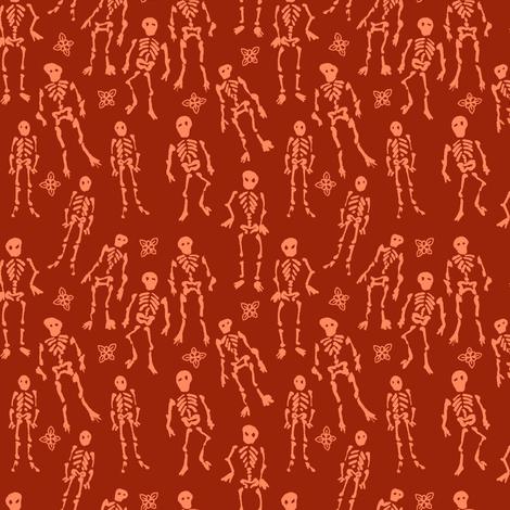 Ditsy Skeletons fabric by jadegordon on Spoonflower - custom fabric