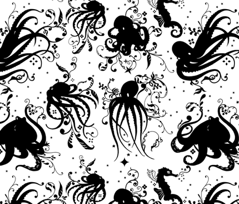 Octopuses fabric by jadegordon on Spoonflower - custom fabric