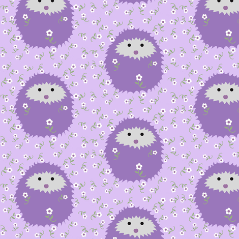 hedgie_lavender_jpg_2 fabric by vo_aka_virginiao on Spoonflower - custom fabric
