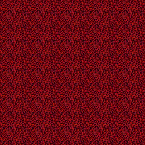 ©2011 MICRO20 leopardprint red fabric by glimmericks on Spoonflower - custom fabric