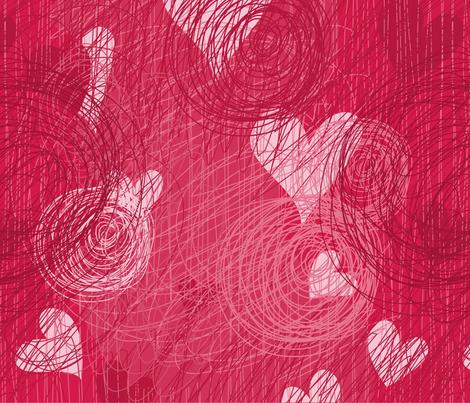 doodle vector hearts seamless pattern fabric by anastasiia-ku on Spoonflower - custom fabric