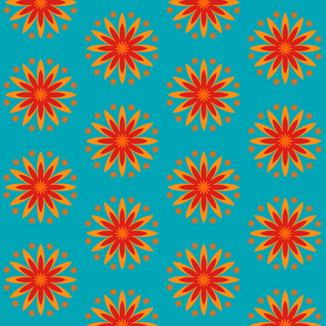 Red Eyed Susan fabric by brainsarepretty on Spoonflower - custom fabric