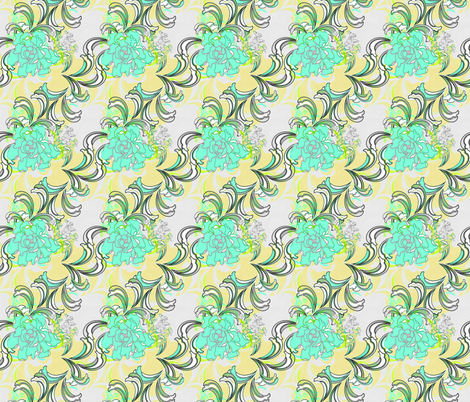 Tropical Damask fabric by joanmclemore on Spoonflower - custom fabric