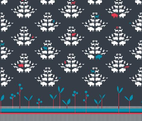 ANIMAL ROCOCO fabric by lynnbushdesigns on Spoonflower - custom fabric