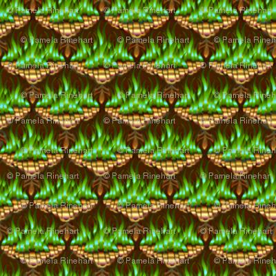 MICRO20 Flamestitched Dragon Scales in Emerald Fire