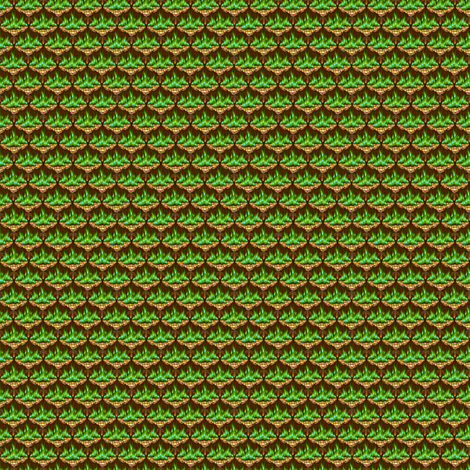 MICRO20 Flamestitched Dragon Scales in Emerald Fire fabric by glimmericks on Spoonflower - custom fabric