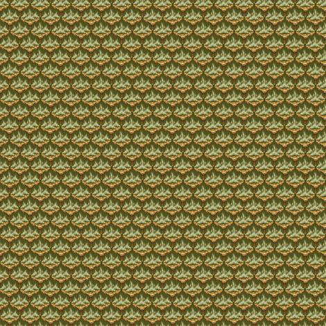 MICRO20 Flamestitch - Moss fabric by glimmericks on Spoonflower - custom fabric